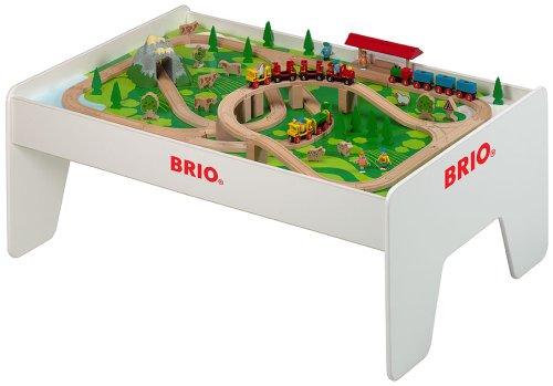 Train Table – BRIO – 96 Piece Brio Railway Set with Play Table ...