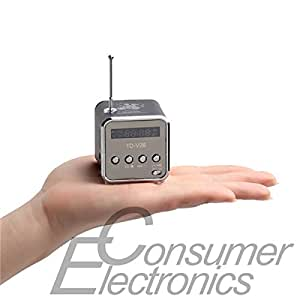 Amazon.com: 1Pc Durable Mini Speaker Build-in stereo FM radio LED