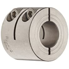 Ruland One-Piece Clamping Shaft Collar, Double Wide, Stainless Steel 303, Metric