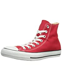 Converse M9621: All Star Chuck Taylor Hi Top Red/White Unisex Casual Men Size (US Men 6.5)