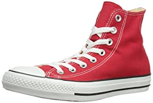 CONVERSE Men's All Star Core Hi Sneaker (Red 8.0 M)