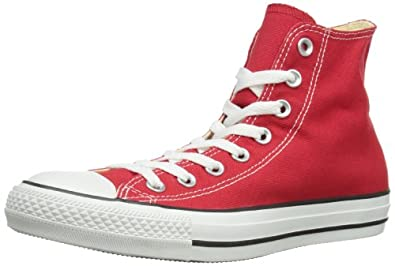 Converse Unisex-Adult Chuck Taylor All Star Core Hi Trainers Red 3 UK