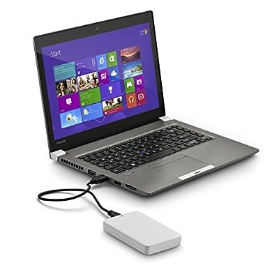 Toshiba Canvio Basics 1TB Portable Hard Drive- White (HDTB310XW3AA)