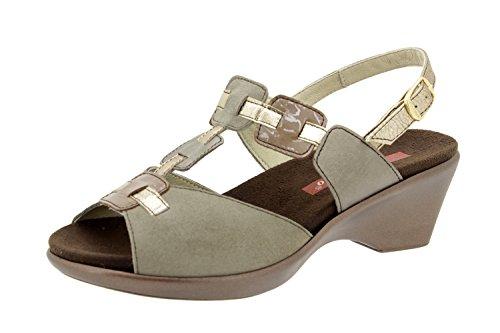 Scarpe donna comfort pelle Piesanto 4853 sandali soletta estraibile comfort larghezza speciale