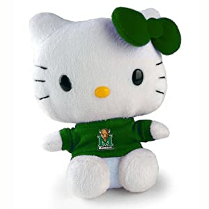 Marshall Thundering Herd Hello Kitty Plush Doll- 6""