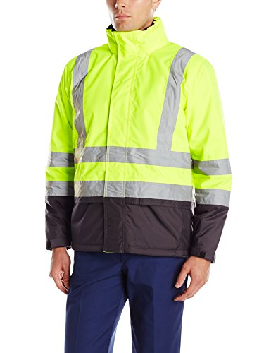 Helly Hansen Workwear Men's Altra High Visibility Insulated Jacket, Yellow/Charcoal, 4X-Large