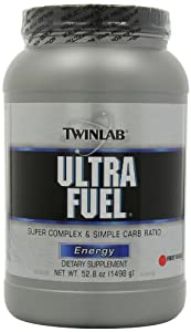 Twinlab Ultra Fuel Super Complex and Simple Carb Ratio, Energy, Fruit Punch, 52.8 Ounce (Pack of 2)