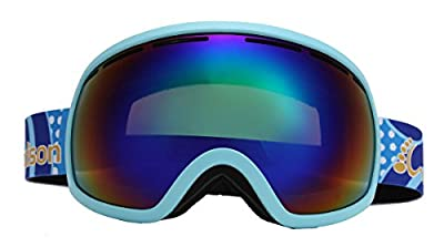 WODISON Double Lens Anti Fog Ski Snow Goggles Wide Angle Sports Outdoor Eyewear