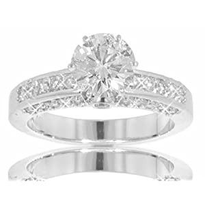 2.25 Ct. TW GIA Certified Round Diamond Engagement Ring in 14 kt. Pave Mounting Size 7.5