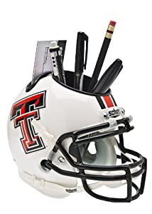 Buy NCAA Texas Tech Red Raiders Helmet Desk Caddy, White by Schutt