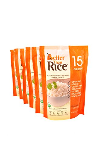Better Than Rice. Certified Organic. Vegan, Gluten-Free, Non-GMO, Konjac, Shirataki Rice 14oz. (6 pack/84oz) ($0.29 Per Ounce) (Slim Rice compare prices)