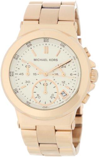 Michael Kors Quartz, White Dial with Rose Goldtone Bracelet - Womens Watch MK5223