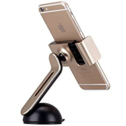 StrrongFirst Car Mounts, Momax Series Smartphone Car Mount Holder Cradle for iPhone 6 Samsung S7 edge etc (Gold)