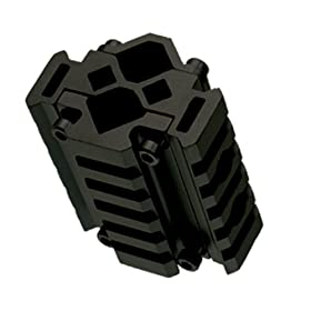UTG Universal Tri-Rail Barrel Mount Complete with Laser Clamping Feature (Each Rail with 5 Slots)