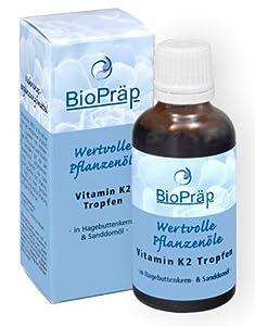 Vitamin K2 Tropfen In Hagebuttenkern- & Sanddornöl - 50 ml