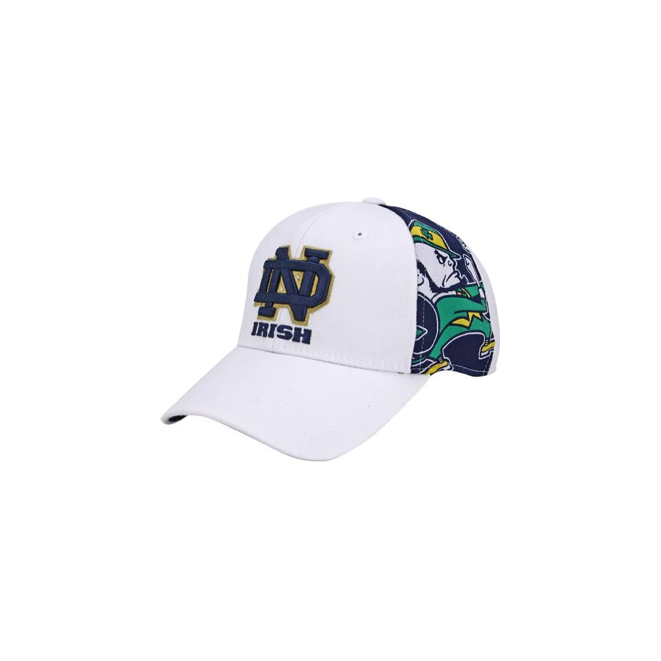 Notre Dame Fighting Irish White Glimpse 1Fit Hat