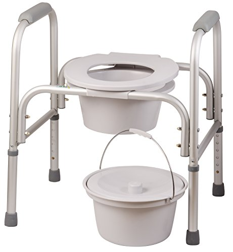 DMI 3 in 1 All Purpose Free-Standing Bedside Commode, Toilet ...