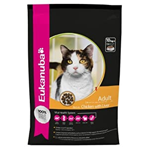 Eukanuba Adult Dry Cat Food Chicken Liver, 10 Kg