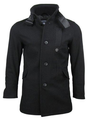 Mens Dissident 'Otago' Wool Rich Slim Fit Melton Jacket/ Coat
