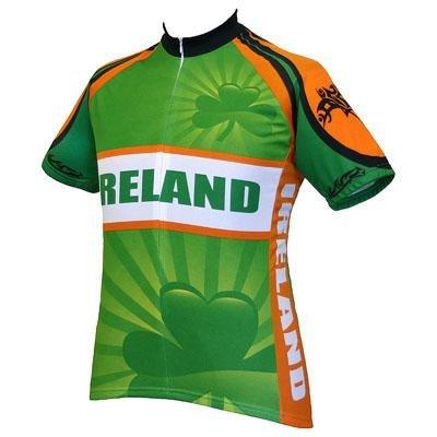 Image of World Jersey's Ireland Short Sleeve Cycling Jersey (B002TSPO70)
