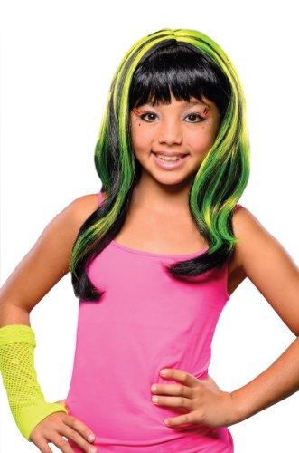 Yellow Neon Streaks Wig