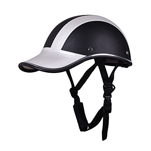 Mcitymall77 Open Face Helmet Scooter Motorcycle Motorbike Crash Helmet Black
