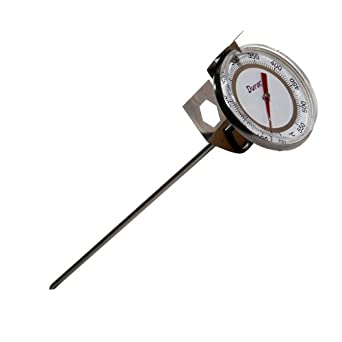 H-B Instrument Durac Plus Traceable Bi-Metallic Dial Thermometer, Beaker Clip with Built-In Adjustment Tool, 50mm Dial, 200mm Probe Length, 50 to 550 Degrees F