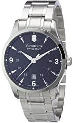 Victorinox Swiss Army Men's 241473 Alliance Black Dial Stainless Steel Watch