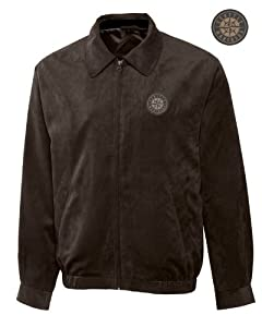 Seattle Mariners Mens Micro Suede City Bomber Jacket by Cutter & Buck