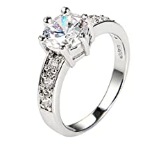 buy Amdxd Jewelry 18K Gold Plated Women'S Promise Rings Shinning Classic Crown White Us Size7