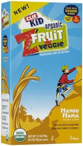 Clif Bar Zfruit& Veg, 95% Organic, Mango Mnia, 5/.7 Oz (Pack Of 6 )