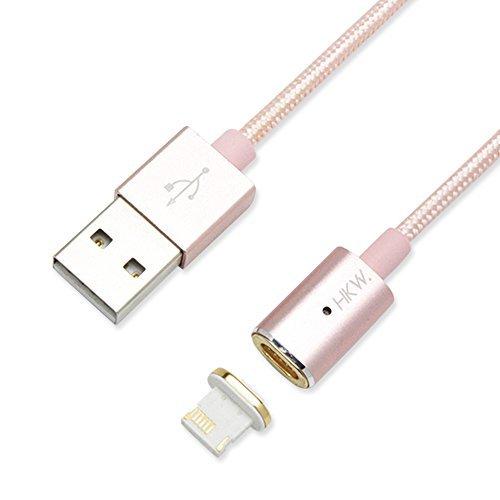 HKW ライトニング USB マグネットケーブル スマートタイプ iPhone 6s / 6s Plus / iPhone 6 / 5 / iPad Air / iPad mini 他対応 (ピンク) 414511