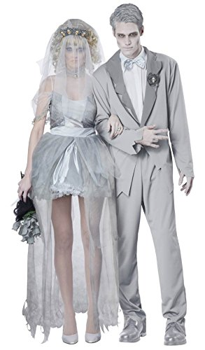 [NonEcho Women's Bride Zombie Costume for Halloween Party Night] (Gothic China Doll Costume)