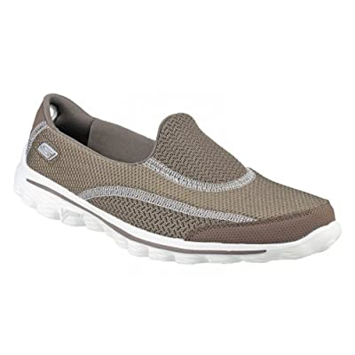 Skechers SK13591 Go Walk 2 Spark Ladies Slip On Shoe / Womens Shoes