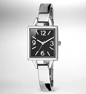 Square Face Analogue Bangle Watch