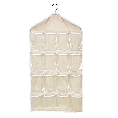 Hrph-16-Taschen-faltbare-Garderobe-hngende-Taschen-Socken-Briefs-Organizer-Kleidung-Aufhnger-Wandschrank-Schuhe-Unterhos-Aufbewahrungstasche