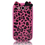 Hello Kitty TPU Leopard & Bow Case for SAMSUNG GALAXY S III S3 i9300 -- Hot Pink