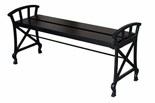 NACH JS-90-4620 Garden Bench, Antique Black