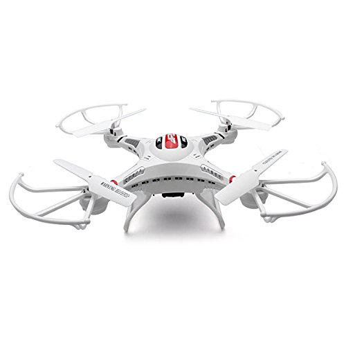 KINGSO JJRC H8C 24G 4CH 6 Axis RC Quadcopter With 2MP HD Camera RTFWhite - Left Hand Mode