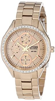 "Citizen Women's POV 2.0 ""Drive from Citizen"" Stainless Steel and Swarovski Crystal Eco-Drive Watch"