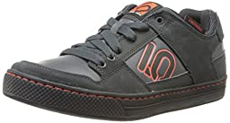 Five Ten Men\'s Freerider Elements Bike Shoe, Dark Grey/Orange, 10 M US