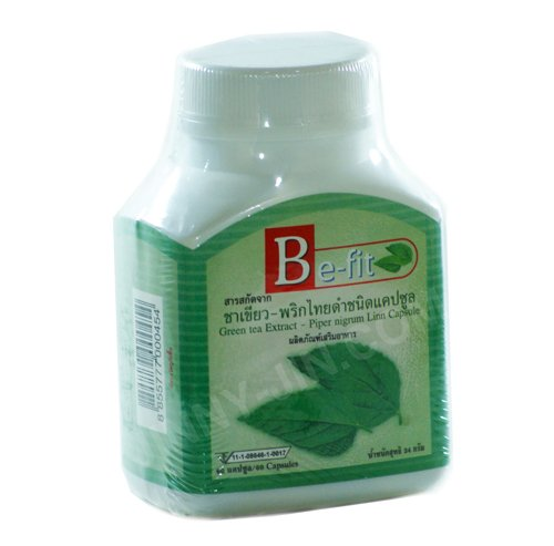 Be Fit Green Tea Extract & Black Pepper Slimming Capsules.