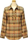 レナウン シンプルライフ レディース ネルシャツ 5224408 ブラウン L