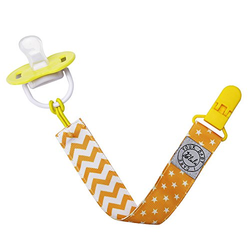 Blulu Pacifier Clip Holder Unisex, 3 Pack
