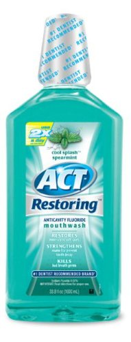 ACT Total Care Mouthwash, Icy Clean Mint, 33.8-Ounce