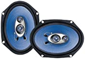 Amazon.com: Pyle PL683BL 6-Inch x 8-Inch 360 Watt Three-Way Speakers (Pair): Car Electronics