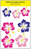 Hibiscus Reflective Safety Stickers