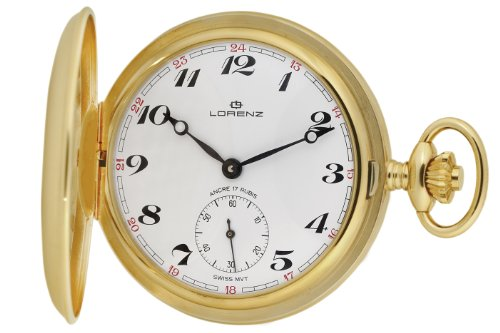Lorenz Men's 019596AE Gold Ion-Plated Pocket Watch