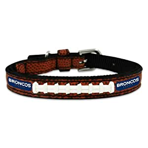 NFL Denver Broncos Classic Leather Football Collar, Toy
