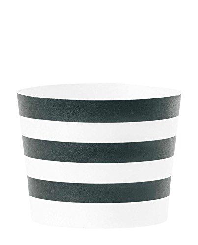 Miss étoile moldes de la magdalena de diseño de rayas de coloures - De colour negro